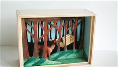 How To Make A Diorama With Paper - construct a paper diorama diy