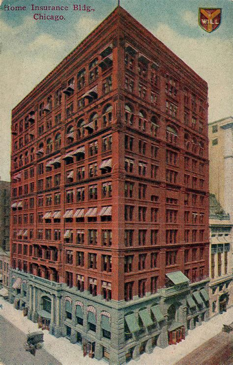 home insurance building 1885 postcard a photo on