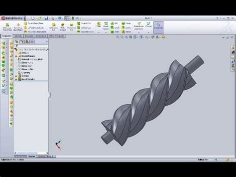 solidworks tutorial helix 10 3 schnecke solidworks 2010 12 training swept boss