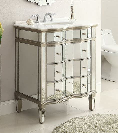 Adelina 30 Inch Mirrored Bathroom Vanity Cabinet Mirror Mirrored Bathroom Vanity Cabinet