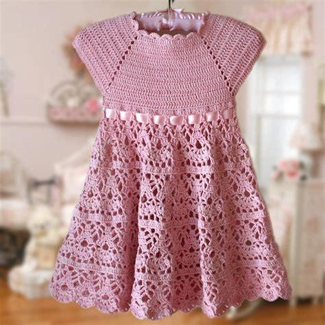 pattern crochet dress girl pink lace dress h 230 klet m 248 nster blomst pige kjole pink