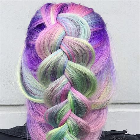 unicorn hair unicorn hair color trend colorful hair color trends