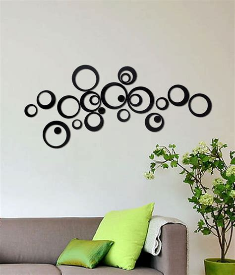 Black Wall Stickers wow interiors and decors black imported cast acrylic 3d