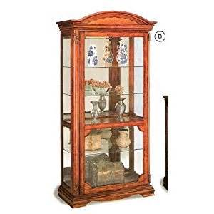 Wood Curio Cabinet With Glass Doors Quot Item Cherry Finish Wood Curio Cabinet With