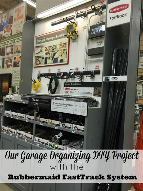 rubbermaid garage organization system our garage organizing diy project fabulous