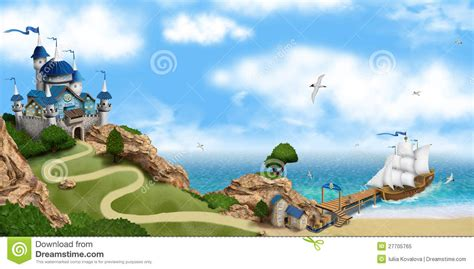 A Tale For You tale castle on the rock royalty free stock photo image 27705765