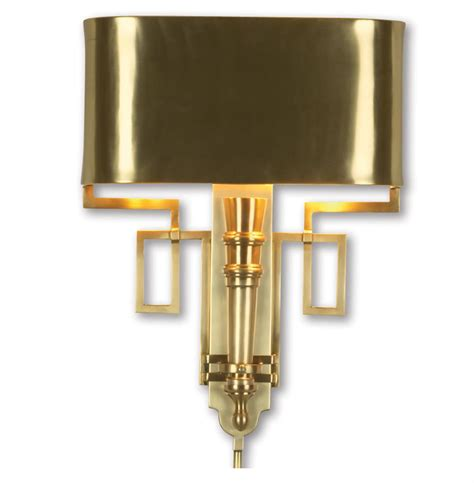 Gold Sconces Pasadena Regency Polished Gold Deco Style Sconce