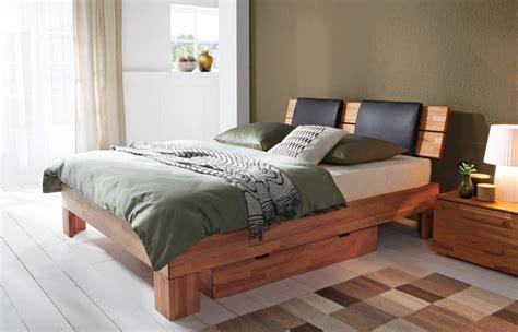 bett 180x200 niedriges kopfteil massivholzbett bett hasena buche massiv serie wood line
