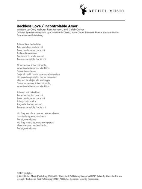 Reckless love bethel spanish lyrics ALQURUMRESORT.COM