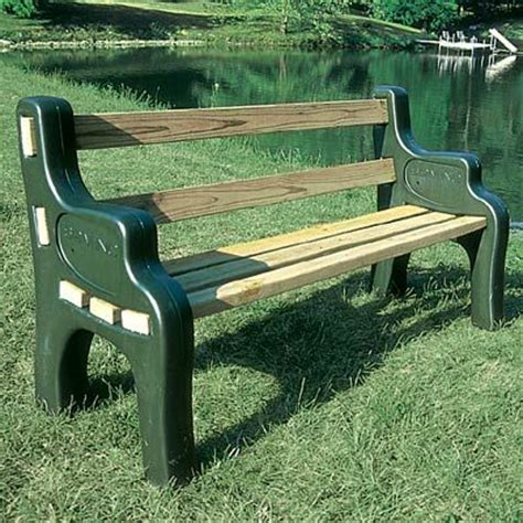 park bench ends park bench kit 69 95 comfortable and maintenance free