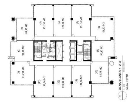 layout ruang perkantoran jual ruang kantor baru di gedung its office tower pasar