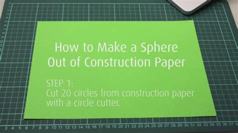 Make A Paper Sphere - how to make a paper sphere on vimeo