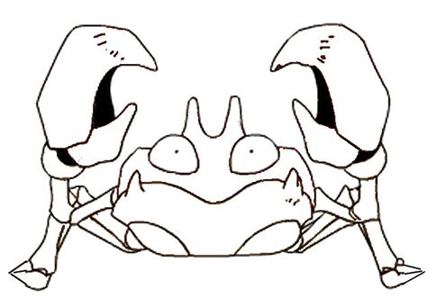 pokemon krabby coloring pages coloring pages pokemon krabby drawings pokemon