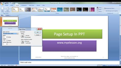 Landscape Lesson Powerpoint Change Page Orientation In Powerpoint