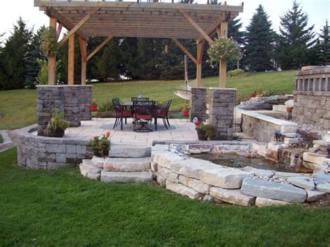 backyard stone ideas backyard patio pictures and ideas