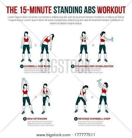 the 15 minute one dumbbell 15 minute standing abs workout vector photo bigstock