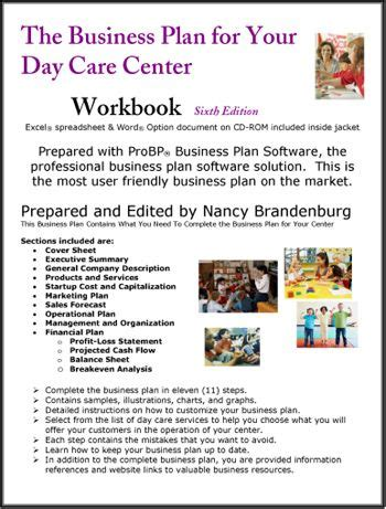 home daycare business plan day care center business plan business plans pinterest