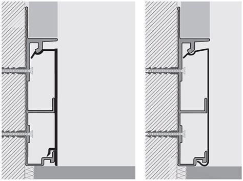 Aluminium Skirting board PROSKIRTING CHANNEL by PROGRESS