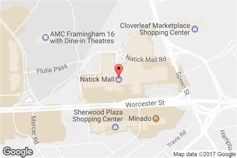 natick mall map mall hours address directions natick mall