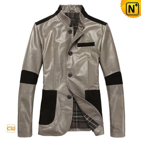 design cooling jacket designer gray genuine leather jackets for men cw804036