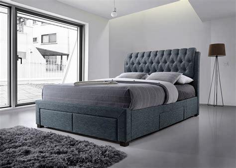 fabric beds artisan front drawer 5ft kingsize fabric bedframe dark grey