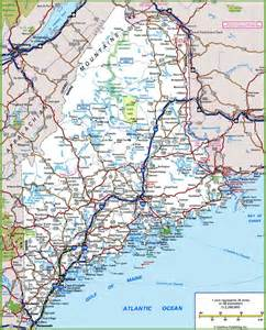map of highways in maine road map