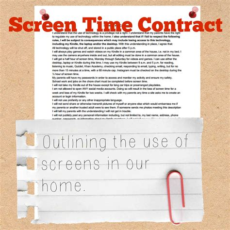 screen time in the time a parenting guide to get and safe books a screen time contract for when you really business