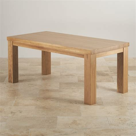 contemporary table contemporary chunky 6ft dining table in oak