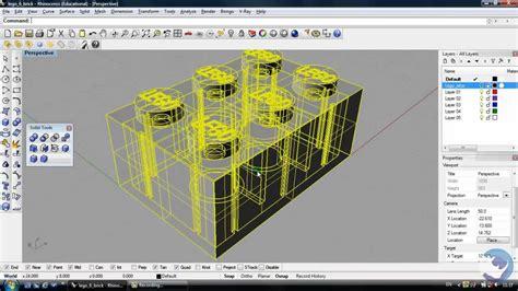 lego rhino tutorial rhino 3d tutorial how to create a lego brick beginners