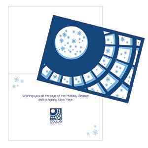 Best Buy Oculus Gift Card - custom designed holiday card belladia marketing and design
