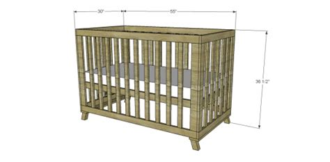 Baby Crib Measurements by Free Diy Furniture Plans To Build A Land Of Nod Inspired