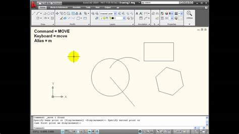 autocad tutorial with commands move a object in autocad autos post