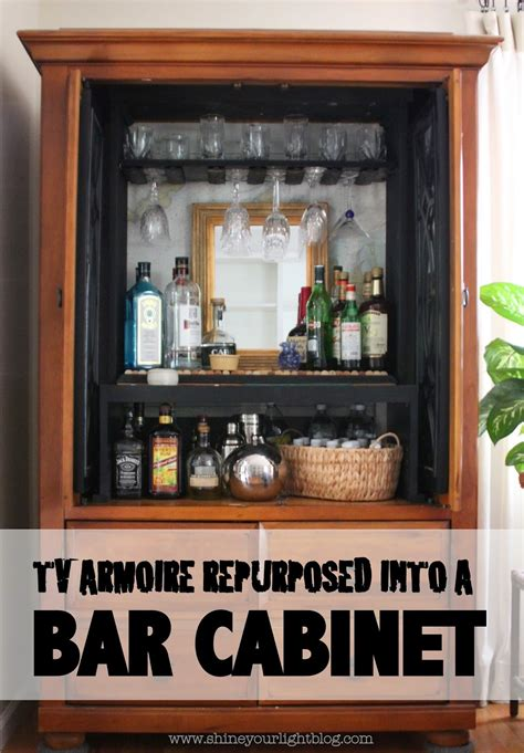 Armoire Bar Cabinet by Shine Your Light Tv Armoire Turned Bar Cabinet Diy