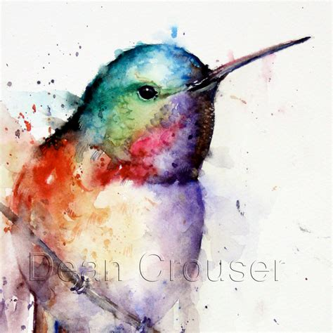 tutorial watercolor hummingbird hummingbird watercolor bird print hummingbird painting bird