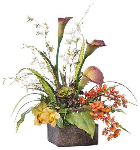 calla orchid centerpiece contemporary artificial