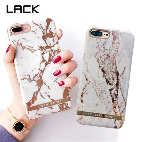 lack luxury glossy marble phone case  iphone   rose gold exquisite granite stone hard