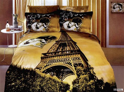 eiffel tower bed set eiffel a gorgeous and romantic print of the eiffel tower