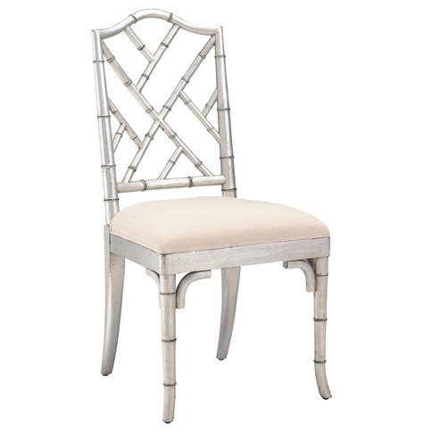 Bamboo Dining Chairs Chippendale Regency Silver Bamboo Dining Chair