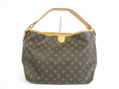 louis vuitton monogram brown leather hobo shoulder bag
