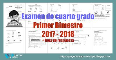 examen de la ugel de cuarto grado de primaria2016 examen de cuarto grado primer bimestre 2017 2018 hoja