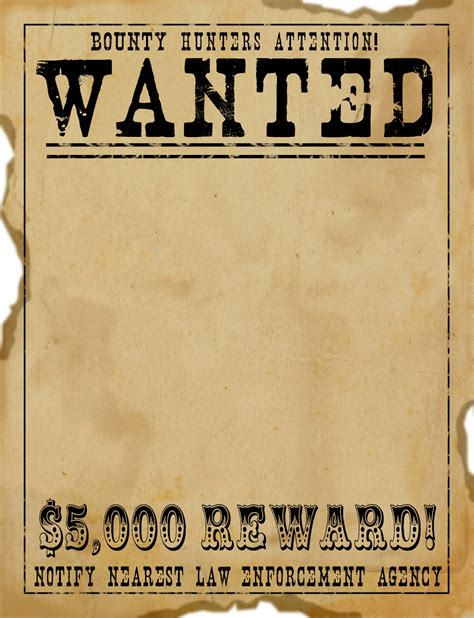 reward posters template reward wanted clipart cliparts and others inspiration