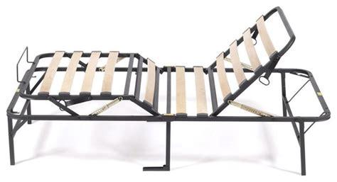 fastfurnishings manual adjustable bed frame with wood slats adjustable beds houzz