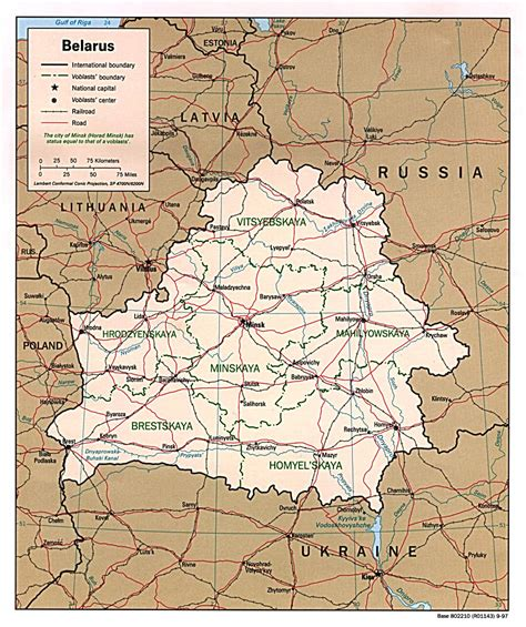 political map of belarus maps of belarus detailed map of belarus in map