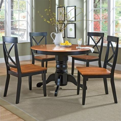 5 pedestal dining set in cottage oak 5168 318