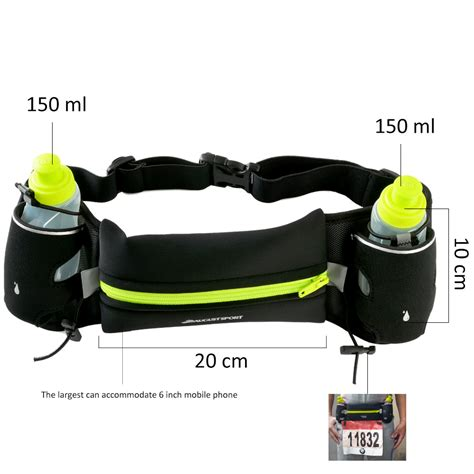 hydration running hydration running belt with 2 bpa free water bottles