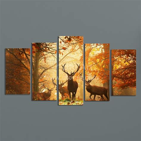 wall arts pictures modern digital picture print on canvas animal deer custom