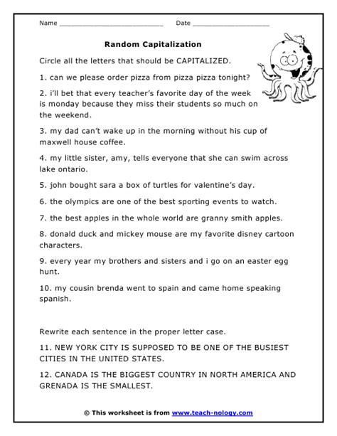 printable capitalization quiz capitalization worksheet lesupercoin printables worksheets
