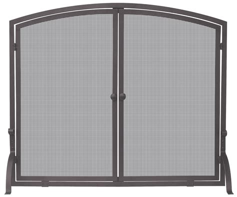 Uniflame Fireplace Screen With Doors by Uniflame Single Panel Bronze Fireplace Screen With Doors