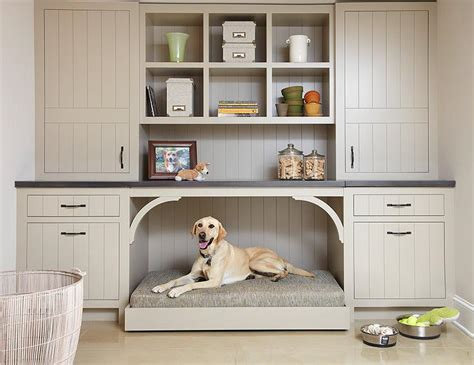 Cleaner For Kitchen Cabinets by Taupe Mudroom Cabinets With A Built In Dog Bed 100