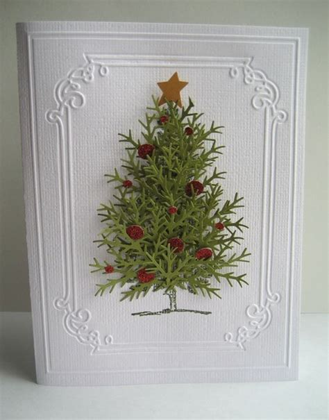 old fashioned christmas tree using snowflake punch